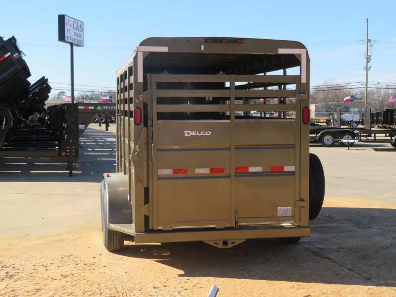 2019 Delco Trailers 72x16 Stock Livestock Trailer