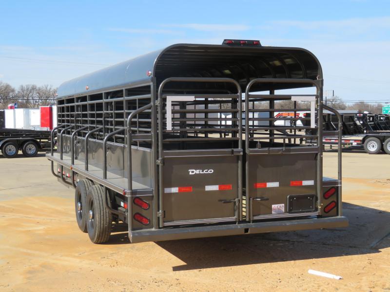 2019 Delco Trailers 70x24 Livestock Trailer'