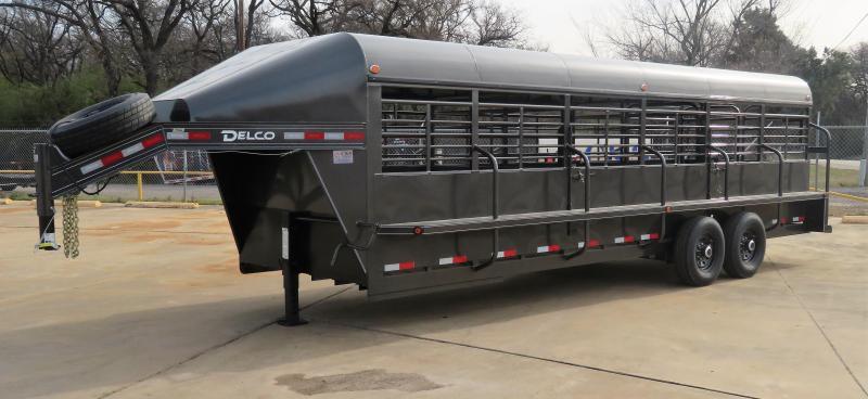 """2019 Delco Trailers 80"""" x 24' Premium Livestock Trailer'"""