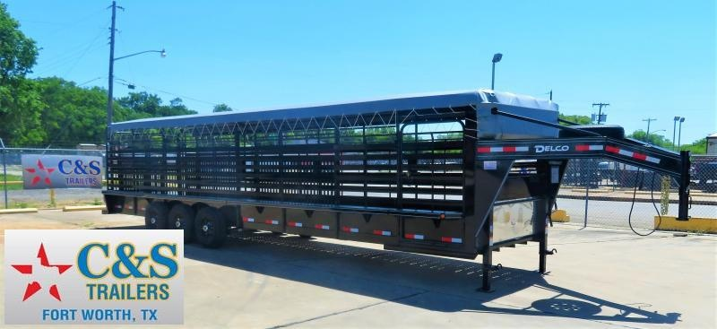 2019 Delco Trailers 83 X 32 GN BAR TOP Livestock Trailer
