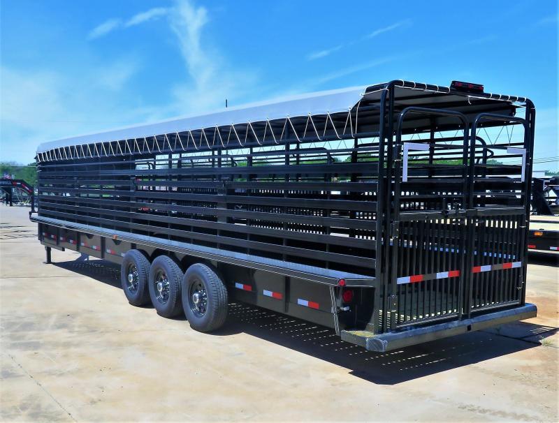 2019 Delco Trailers 83 X 32 GN BAR TOP Livestock Trailer