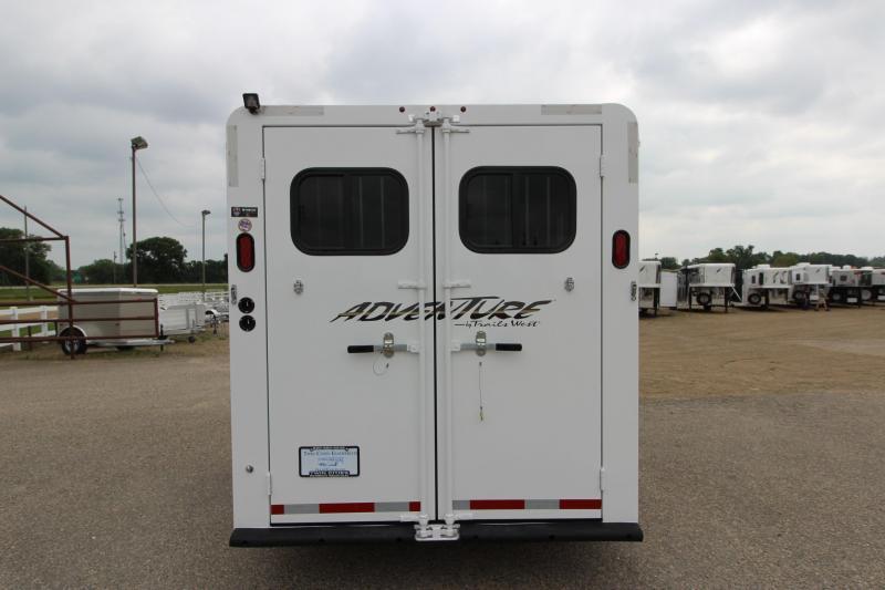 2019 Trails West Manufacturing Adventure MX 4HR Horse Trailer