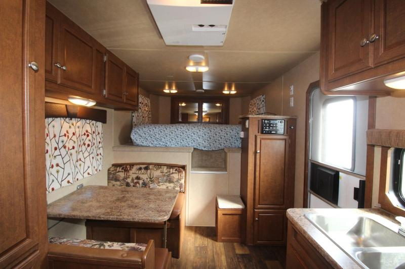 """2013 Bison Trailers 4HR Stock Combo 12 6"""" LQ Horse Trailer"""