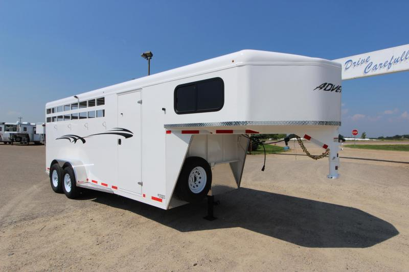 2019 Trails West Manufacturing Adventure 4HR GN Horse Trailer