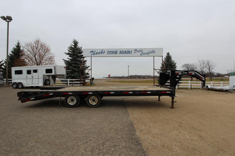 2011 CornPro Trailers 205 GN Flatbed Trailer in Harshaw, WI