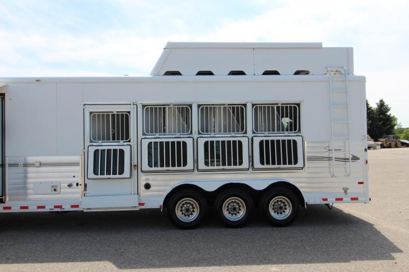 2008 Sundowner Trailers 4HR 18' LQ Horse Trailer