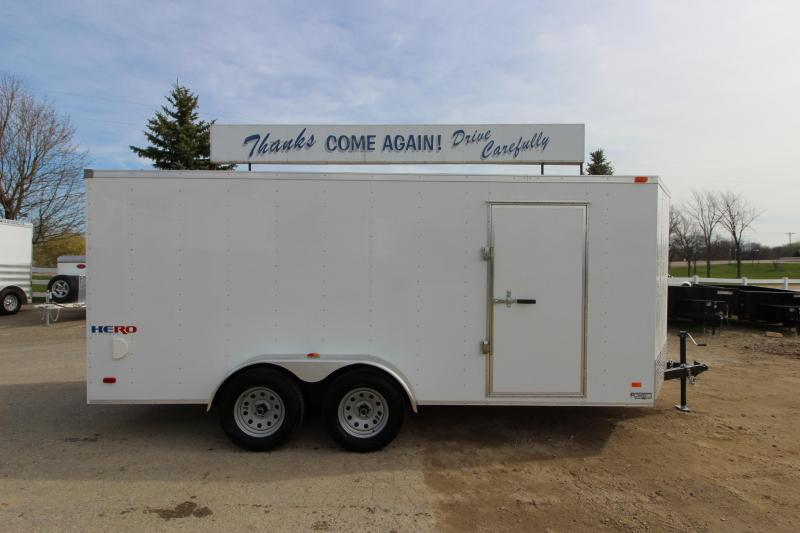 2019 Bravo Trailers Hero 7x16 Enclosed Cargo Trailer