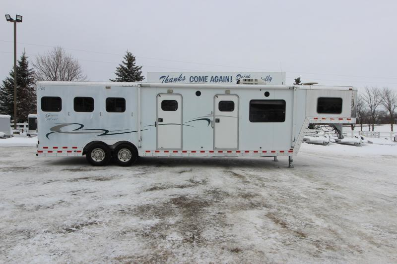 2001 Kiefer Built 3HR 14 LQ MT Horse Trailer