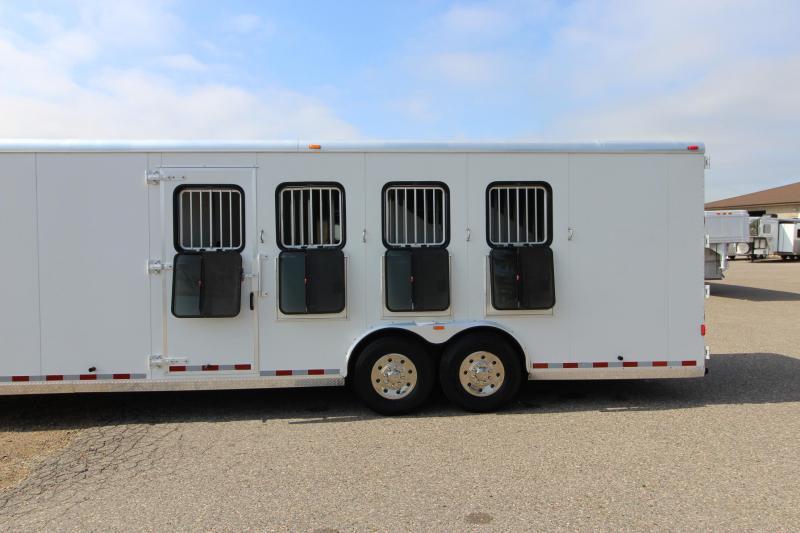 2008 Kiefer Built 4HR GN with 12' Dressing Room Horse Trailer