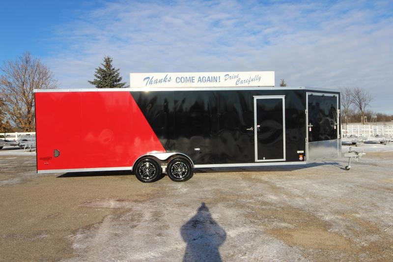 2018 Bravo Trailers 7x24 plus 5 v nose Snowmobile Trailer