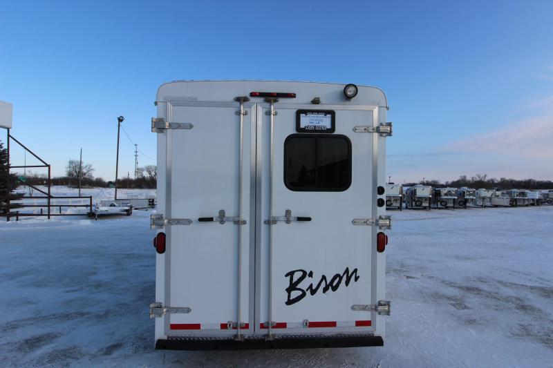 2014 Bison Trailers 3HR 8 LQ Horse Trailer