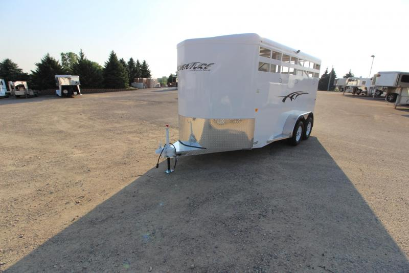 2019 Trails West Manufacturing Adventure II 3HR BP Horse Trailer
