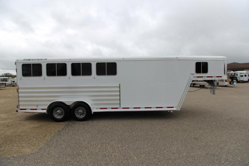 2015 Featherlite 8542 4HR GN Horse Trailer