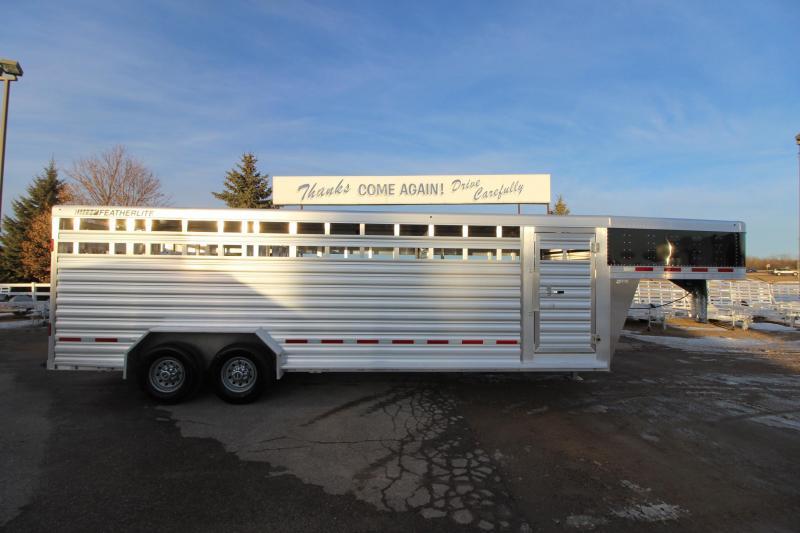 2018 Featherlite 8127 24 GN Livestock Trailer
