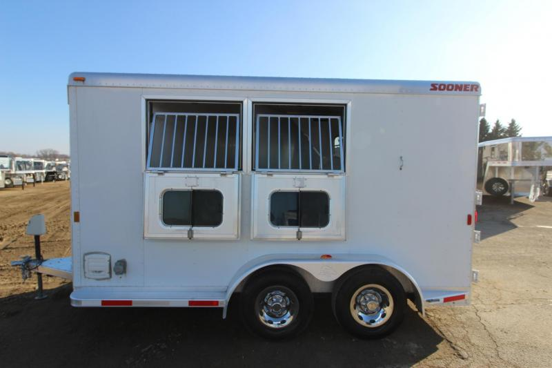 2008 Sooner 2HR BP Horse Trailer