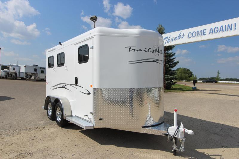 2019 Trails West Manufacturing Classic II 2HR BP Horse Trailer