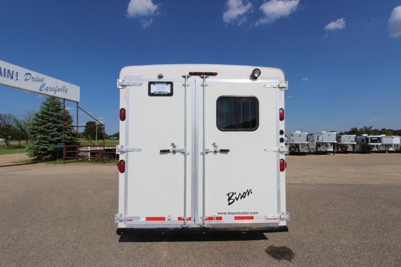 2011 Bison Trailers 3HR 12 LQ w/Slide Horse Trailer
