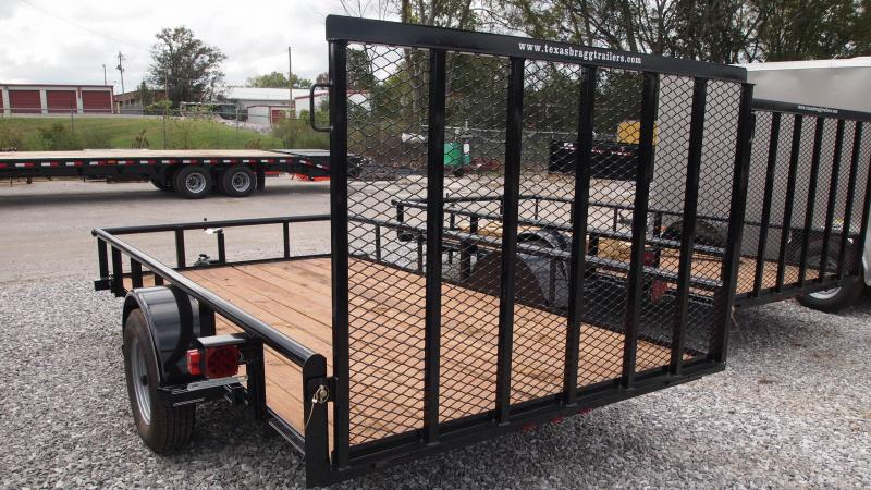 2019 Texas Bragg Trailers 12x77 Single Axle Utility Trailer