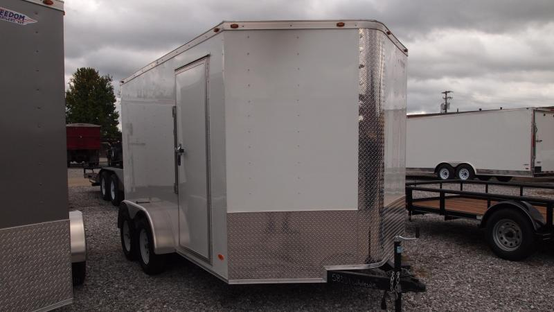 2019 Freedom Trailers 12x7 Tandem Axle Enclosed Cargo Trailer