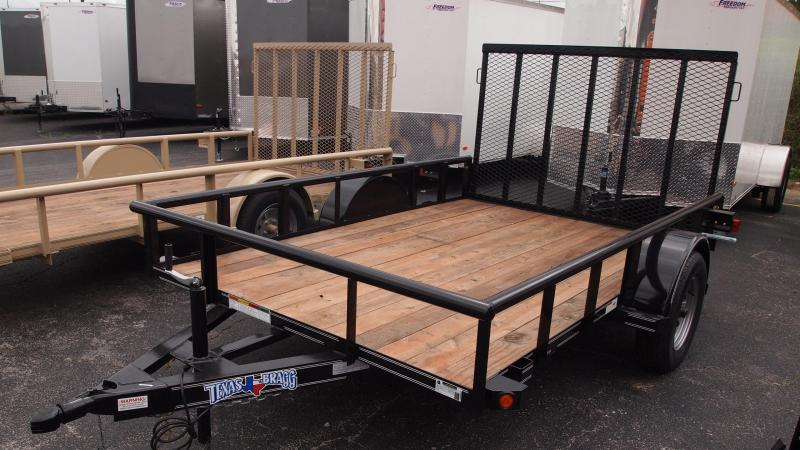 2019 Texas Bragg Trailers 10x77 Single Axle Utility Trailer