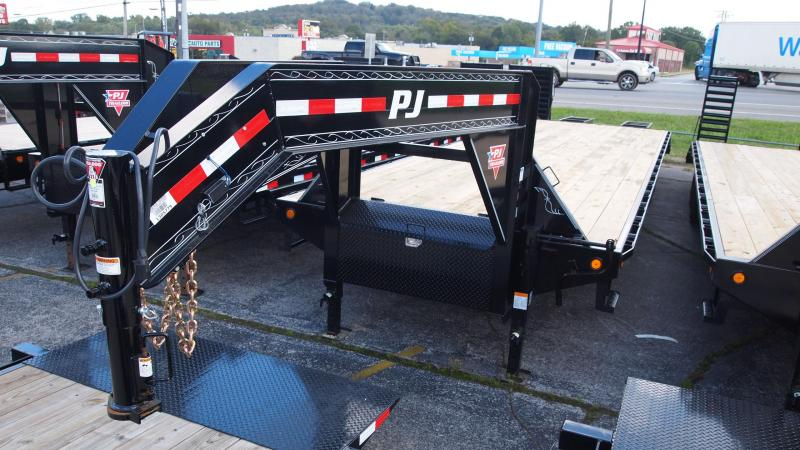 2019 PJ Trailers 35 GN Dual Tandem Flatbed Trailer