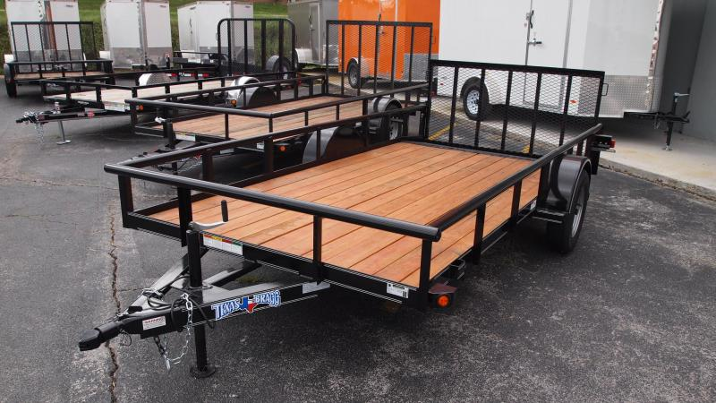 2019 Texas Bragg Trailers 14x77 Single Axle Utility Trailer