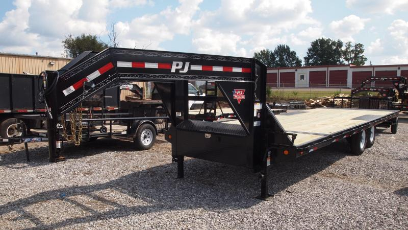 2019 PJ Trailers 26 T8 Gooseneck Deckover Tilt Equipment Trailer