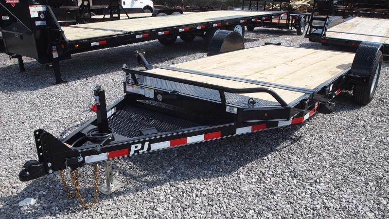 2019 PJ Trailers 16 Single Axle Tilt Equipment Trailer