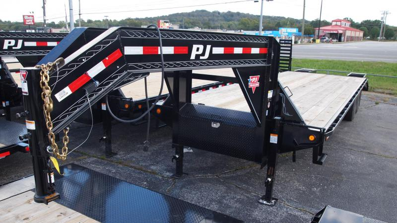 2019 PJ Trailers 30 GN Dual Tandem Flatbed Trailer