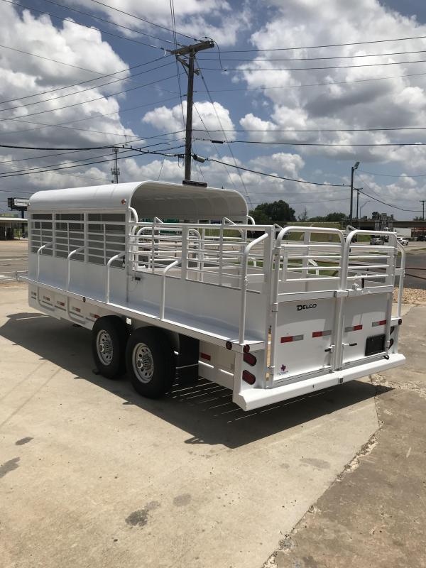 2018 Delco Trailers GP68X2027K Livestock Trailer