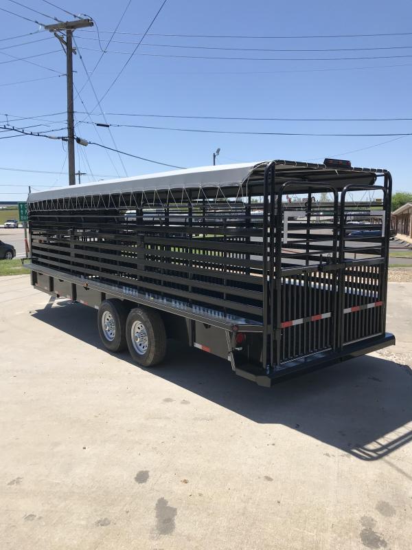 2018 Delco Trailers GB68X2427K Livestock Trailer