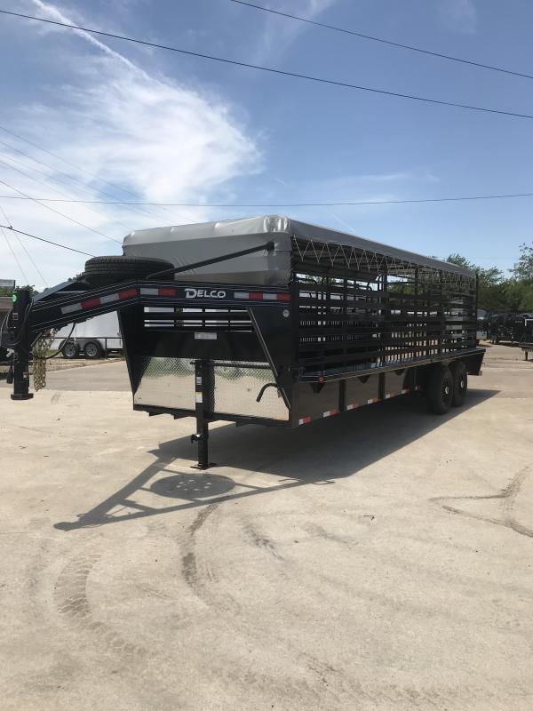 2019 Delco Trailers GB682427K Livestock Trailer