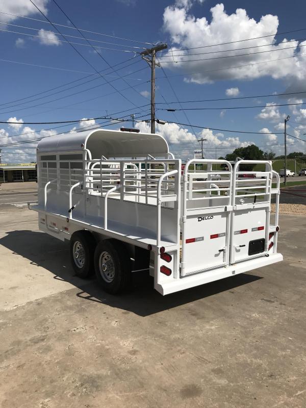 2018 Delco Trailers GP6X1627K Livestock Trailer