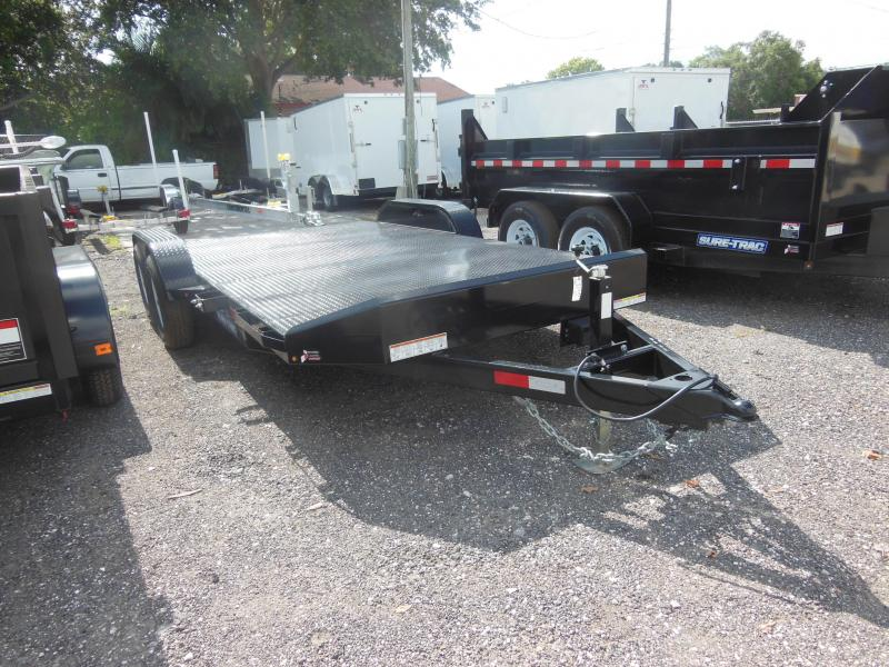 Sure-Trac 7 x 18 Steel Deck Car Hauler/ Equipment 10k