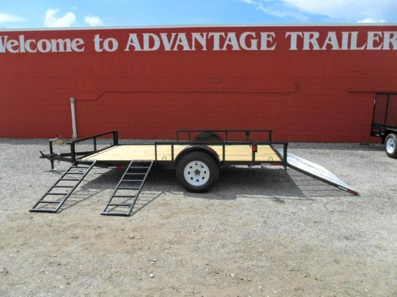 2018 Triple Crown 7 X 12 single axle ATV Trailer