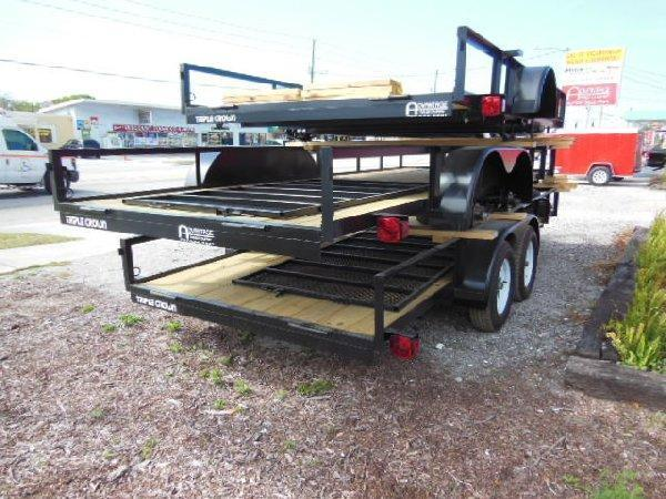 "TRIPLE CROWN OPEN 6'4"" X 16 TANDEM AXLE"