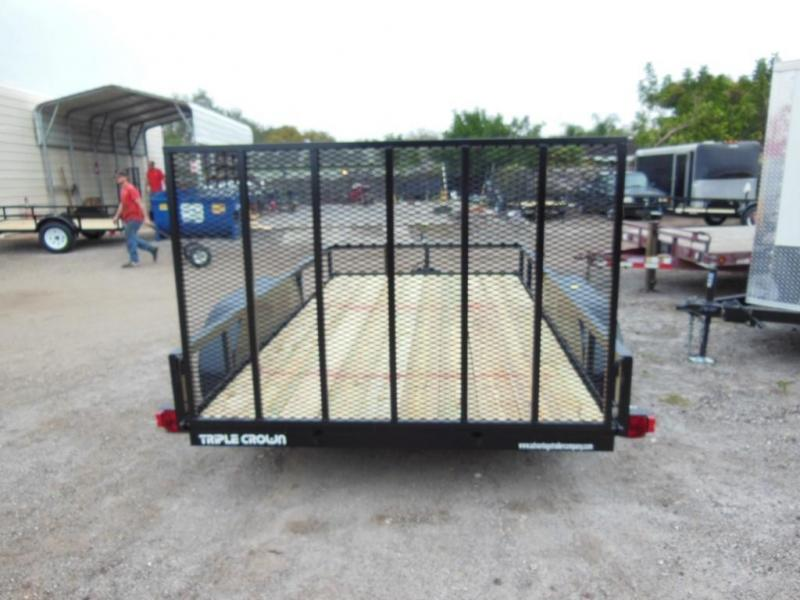 6 X 12 Dual Axle Open Utility Trailer