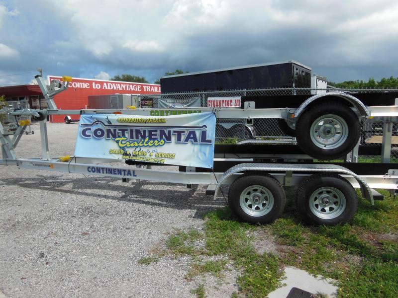 Continental Trailers CTV944-72B Galvanized Tilt Boat Trailer