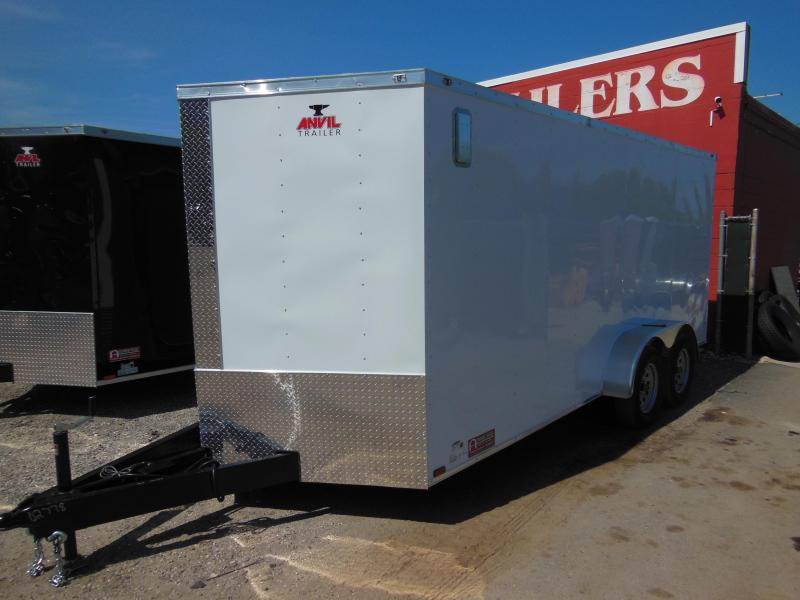2018 Anvil 7 x 16 TA Landscapers Enclosed Cargo Trailer