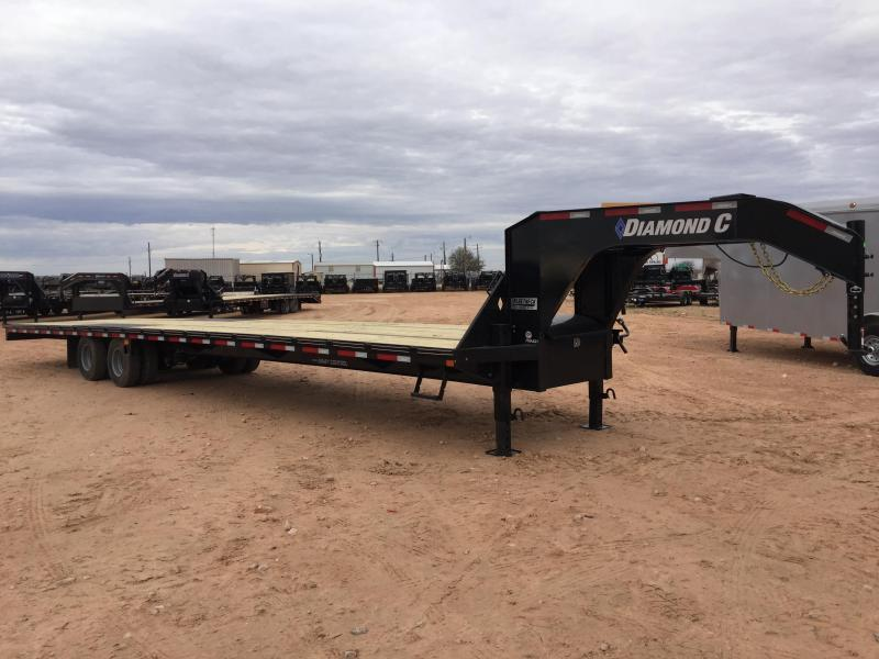 2019 Diamond C Trailers 40' Gooseneck HotShot Air Ride w/ 8' Slide In Ramps