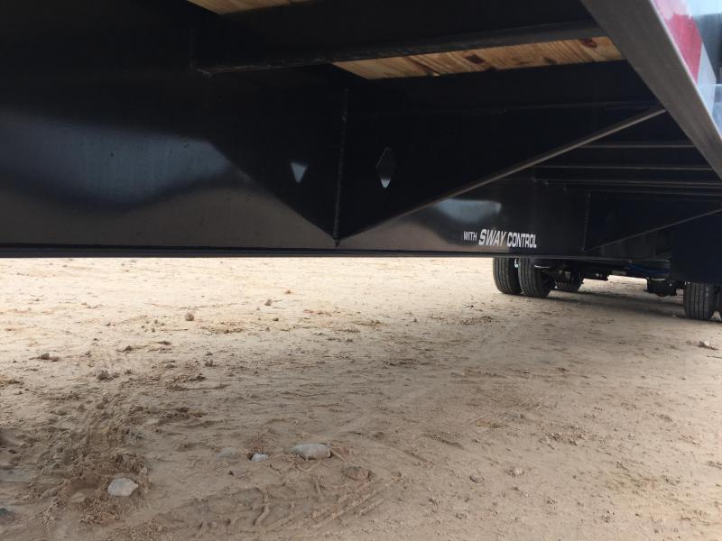 2019 Diamond C Trailers 40' Gooseneck HotShot Air Ride w/ 8' Slide In Ramps