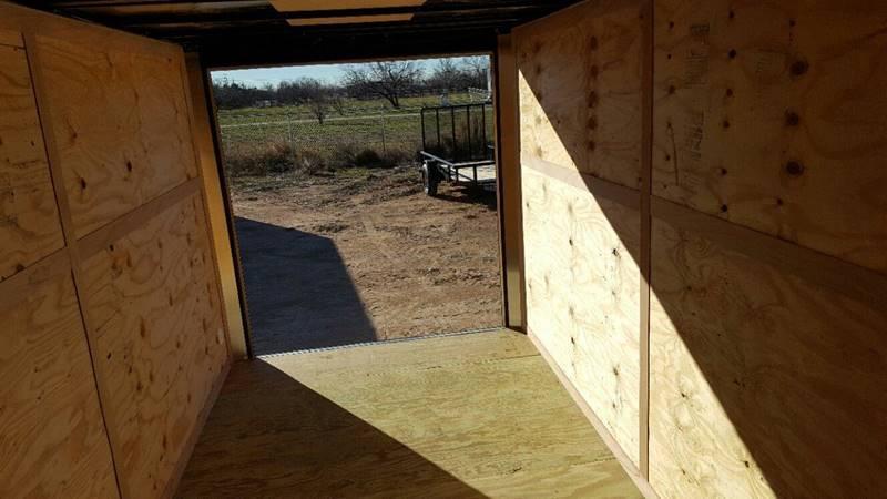 2019 Salvation Trailers 7 X 14 TA Enclosed Ramp Door