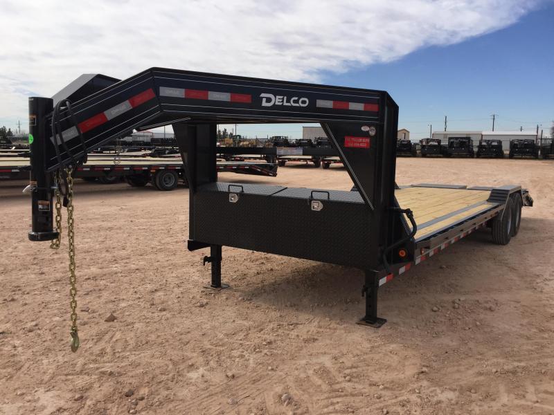 "2019 DELCO 102"" X 34' GOOSENECK CARHAULER W/ MAX RAMPS"