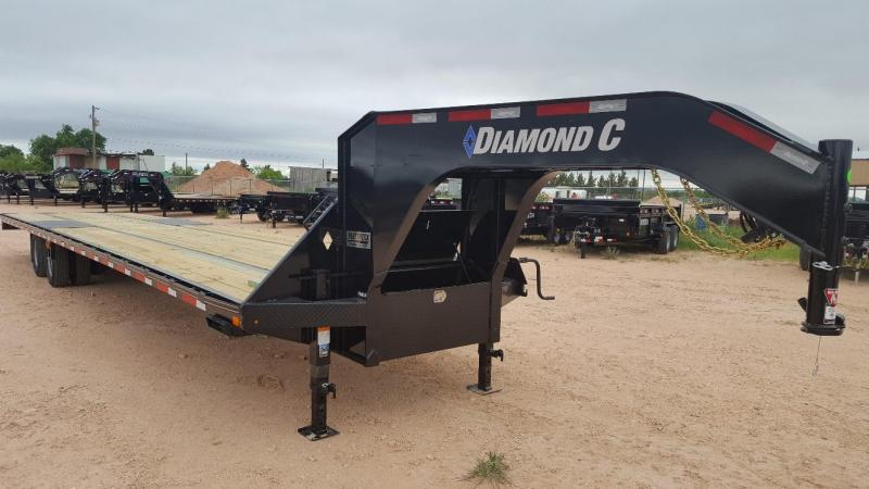 2019 Diamond C Trailers 40' Gooseneck HotShot w/8' Slide In Ramps