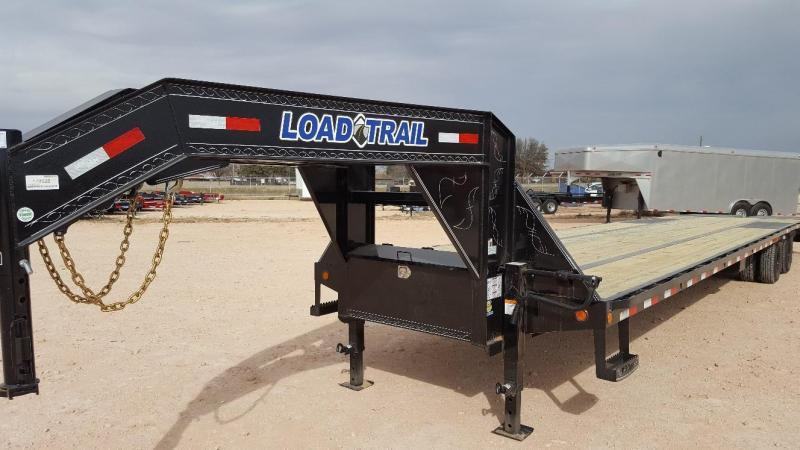 2019 Load Trail 40' Low Pro Gooseneck Ratchet Rail Max Ramps