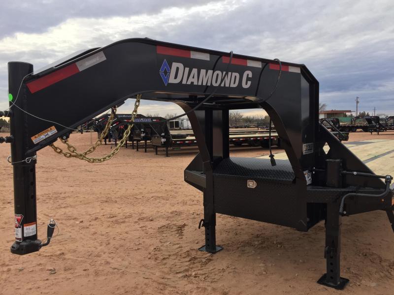 2019 Diamond C Trailers 40' Gooseneck HotShot Air Ride w/ HD Ramps