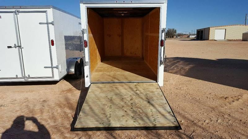 "2019 Salvation Trailers 7 X 16 TA Enclosed 6"" Xtra Height Ramp Door"