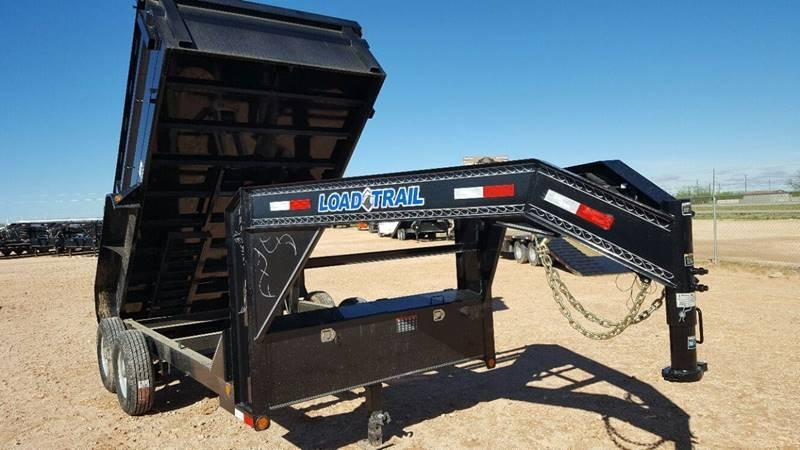 2018 Load Trail 14' 14000 Gvw Gooseneck Dump w/ Tarp Kit