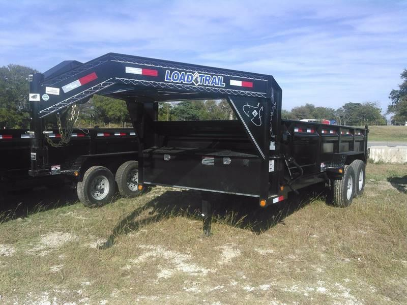 "2019 Load Trail Gooseneck Dump w/scissor lift 83"" x 16' 2 - 7000 Lb Dexter Axles"