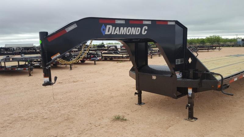 2019 Diamond C Trailers 40' Gooseneck HotShot w/8' Slide In Ramps